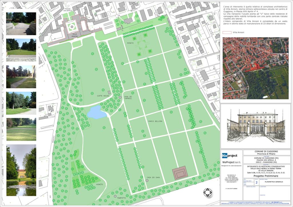 Progetto preliminare per il restauro conservativo di villa for Progetti di piantagione