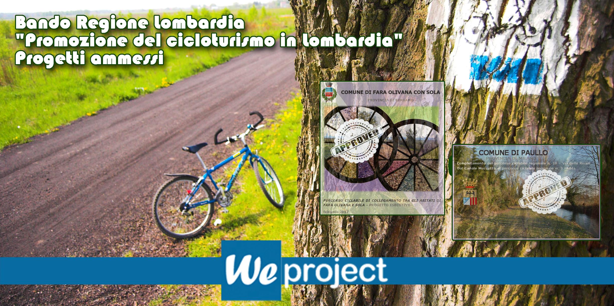 """Bando """"Promozione del cicloturismo in Lombardia"""" - piste ciclabili"""