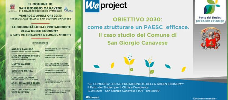 Presentazione del Paesc del Comune di San Giorgio Canavese