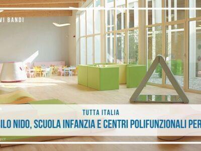 asili nido, scuole infanzia e centri polifunzionali per la famiglia